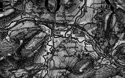 Old map of Llanbrynmair in 1899