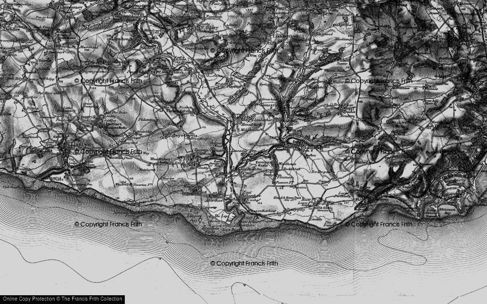 Old Map of Llancadle, 1897 in 1897