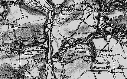 Old map of Llancadle in 1897