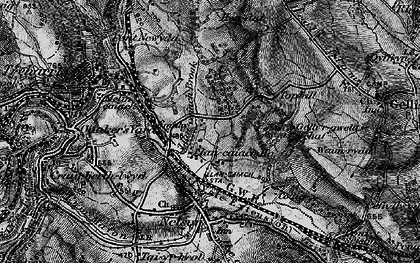 Old map of Tir-y-rhen in 1897