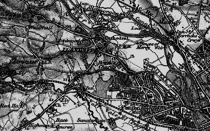 Old map of Llandaff in 1898