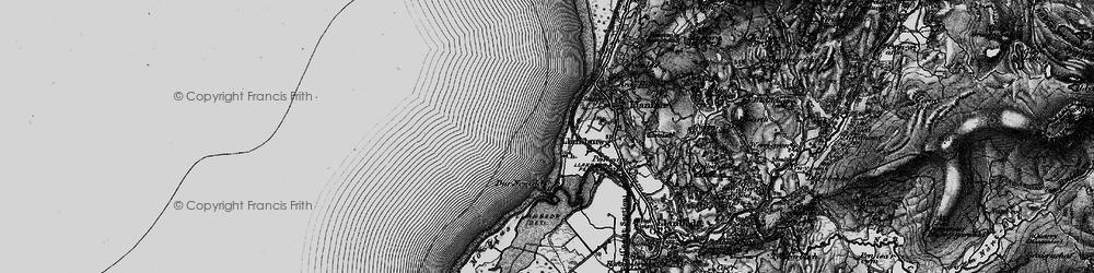 Old map of Llandanwg in 1899