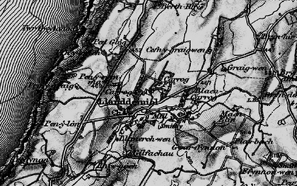 Old map of Aelybryn in 1898