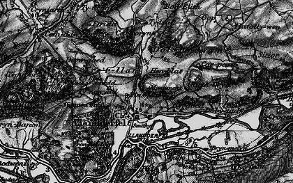 Old map of Llandderfel in 1898