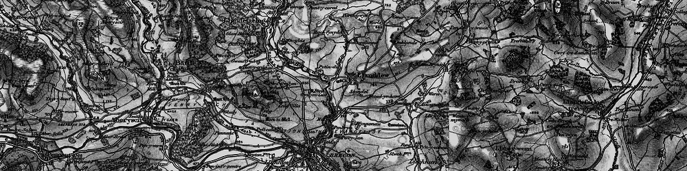 Old map of Alexanderstone in 1898
