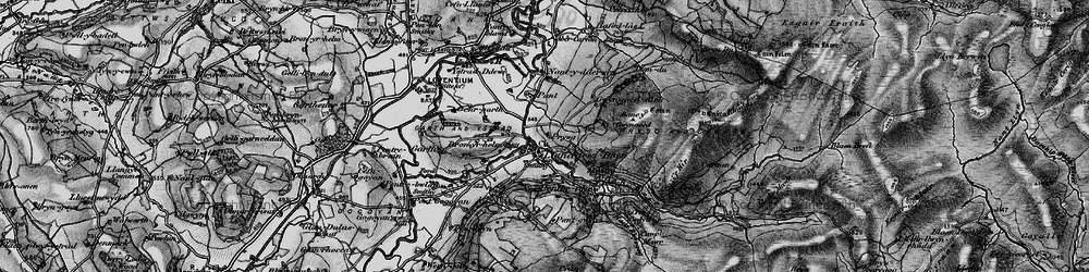 Old map of Abercarfan in 1898