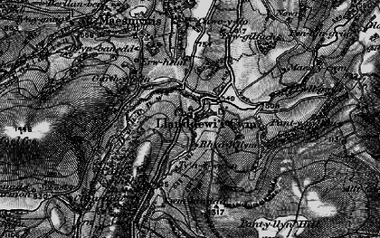 Old map of Banc y Celyn in 1898