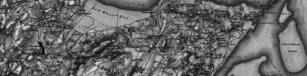 Old map of Llanddona in 1899