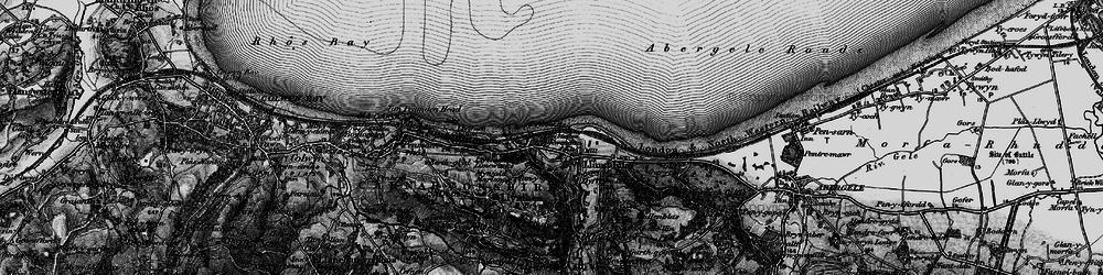 Old map of Llanddulas in 1898