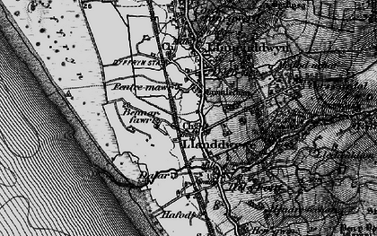 Old map of Afon Ysgethin in 1899