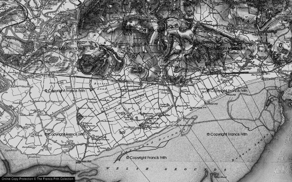 Old Map of Historic Map covering Barecroft Common in 1897