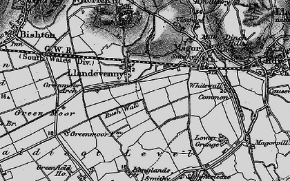 Old map of Barecroft Common in 1897
