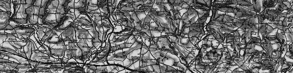 Old map of Afon Rhydybennau in 1898