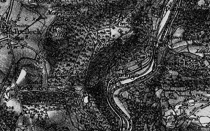 Old map of Llandogo in 1897