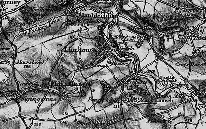 Old map of Llandough in 1897