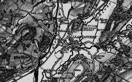 Old map of Ystrad in 1898