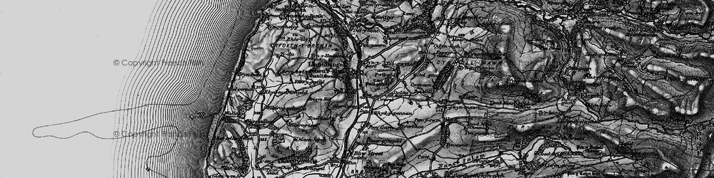 Old map of Aberceiro in 1899