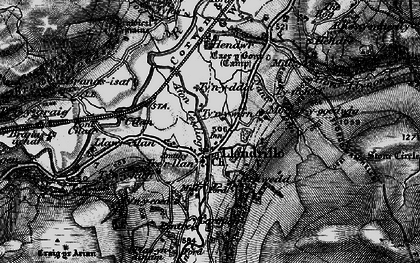 Old map of Afon Llynor in 1898