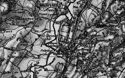 Old map of Bailey Einon in 1898