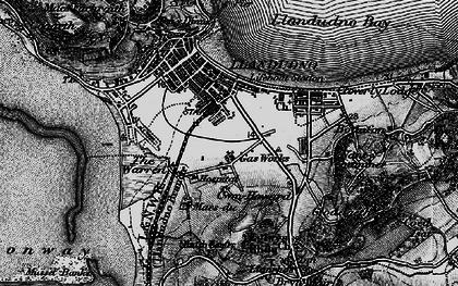 Old map of Llandudno in 1899