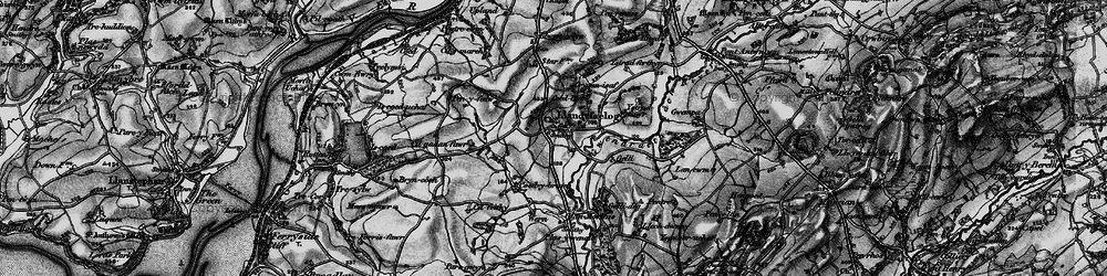 Old map of Ystradferthyr in 1896