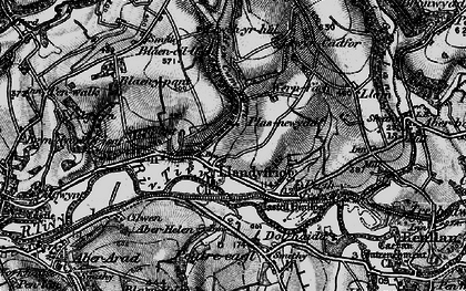 Old map of Aberhalen in 1898
