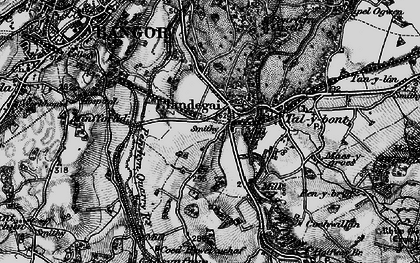 Old map of Llandygai in 1899