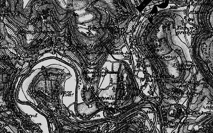 Old map of Llandynan in 1897