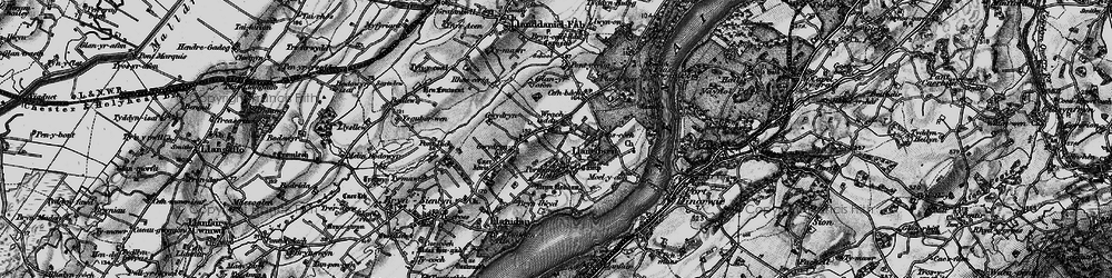 Old map of Afon Braint in 1899