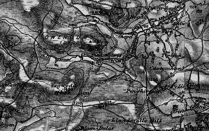 Old map of Ysgwydd Hwch in 1898