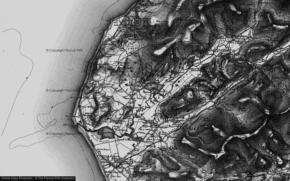 Old Map of Llanegryn, 1899 in 1899