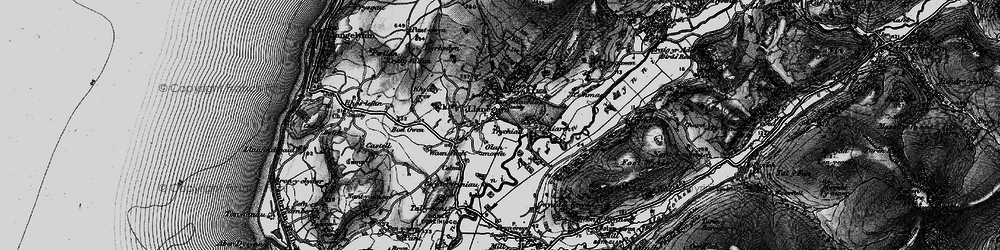 Old map of Llanegryn in 1899