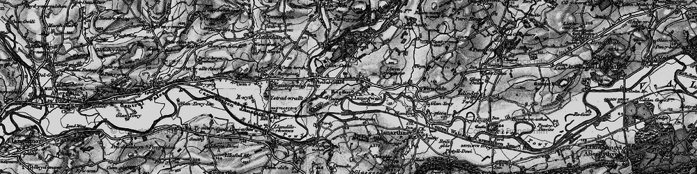 Old map of Afon Cothi in 1898