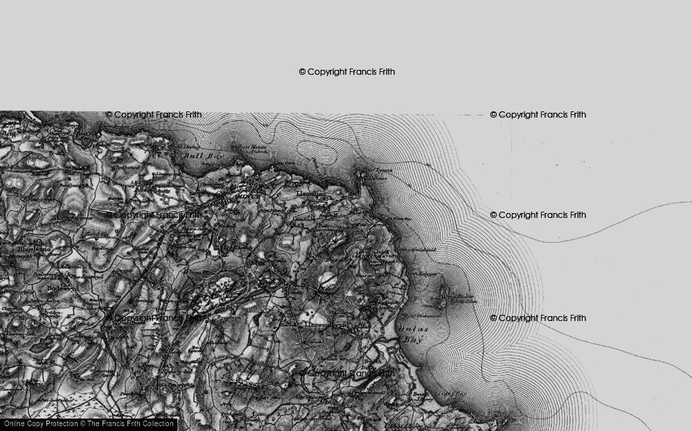 Old Map of Llaneilian, 1899 in 1899