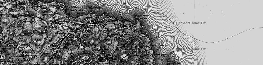 Old map of Llaneilian in 1899