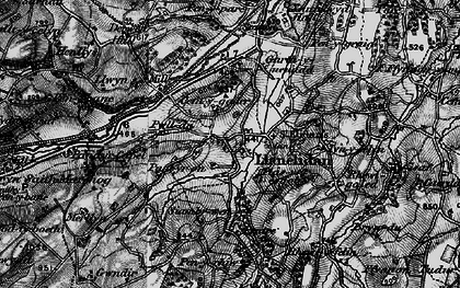 Old map of Llanelidan in 1897