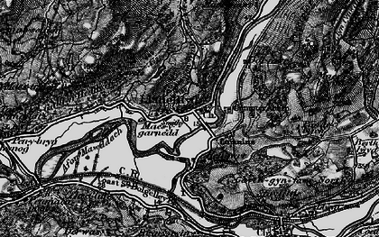 Old map of Afon Wnin in 1899