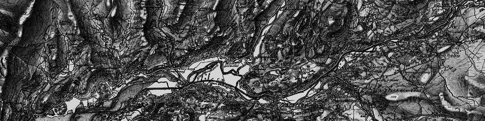 Old map of Afon Wnin in 1899