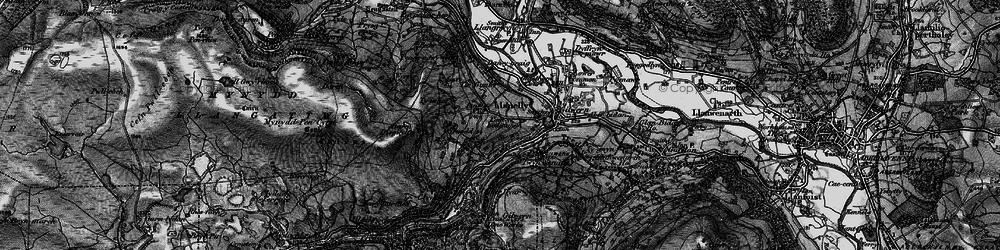 Old map of Tir Gunter in 1897