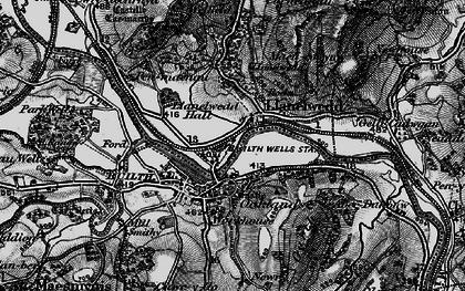 Old map of Llanelwedd in 1898