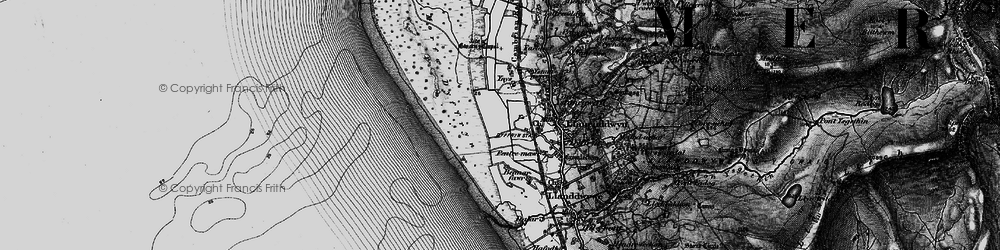Old map of Ynys-Gwrtheyrn in 1899