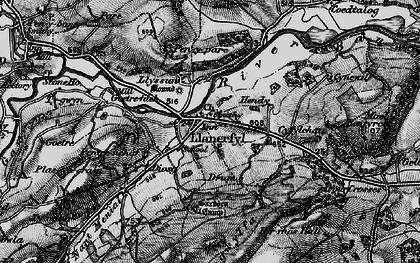 Old map of Llanerfyl in 1899