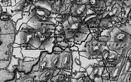 Old map of Llanfachraeth in 1899