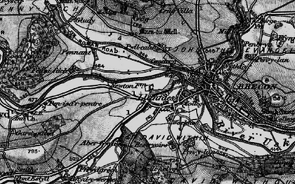 Old map of Abergwdi in 1898