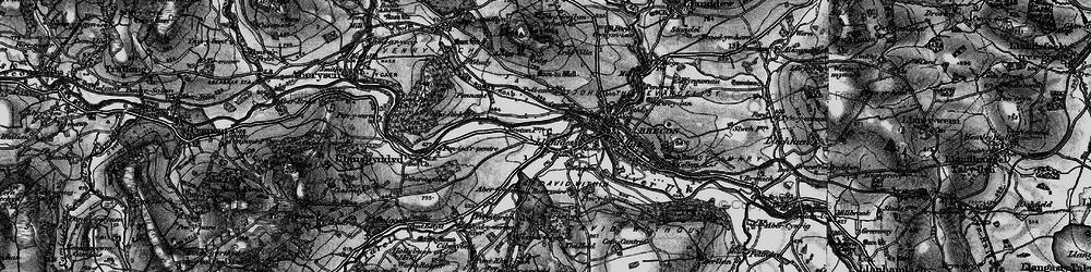 Old map of Abergwdi in 1898