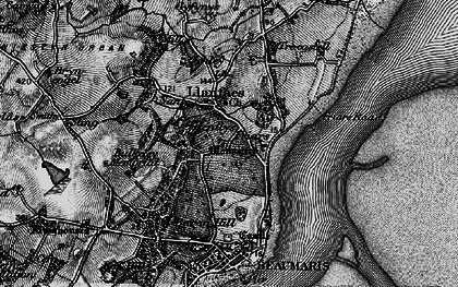 Old map of Llanfaes in 1899
