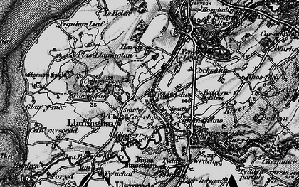 Old map of Ysgubor Isaf in 1899