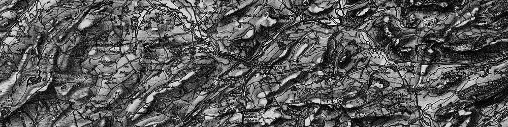 Old map of Llanfair Caereinion in 1897