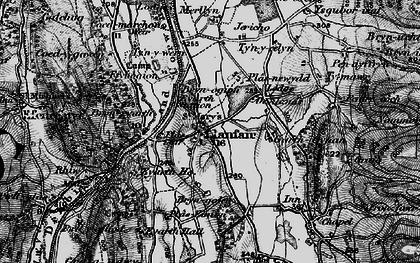 Old map of Llanfair Dyffryn Clwyd in 1897