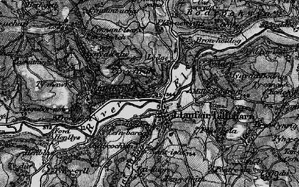 Old map of Ysgubor-newydd in 1897